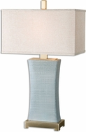Uttermost 26673-1 Cantarana Blue Gray Table Lamp