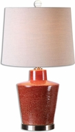 Uttermost 26903 Cornell Brick Red Table Top Lamp