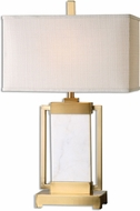 Uttermost 26940-1 Marnett White Marble Lighting Table Lamp