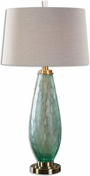 Uttermost 27003 Lenado Brushed Antiqued Brass Buffet Table Lamp