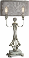 Uttermost 27008-1 Pontoise Hand Painted Distressed Aged Ivory With Rust Bronze Table Lighting