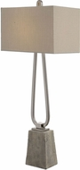 Uttermost 27022-1 Carugo Polished Nickel Buffet Side Table Lamp