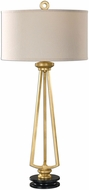 Uttermost 27023 Torano Antiqued Gold Leaf Buffet Table Lamp