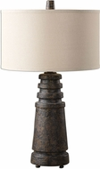 Uttermost 27034-1 Topeka Distressed Rust Brown Lighting Table Lamp