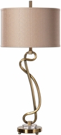 Uttermost 27040-1 Shalin Plated Brushed Brass Table Light