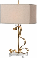 Uttermost 27042-1 Camarena Bright Gold Leaf Table Lighting
