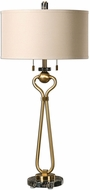 Uttermost 27045 Arcella Plated Brushed Brass Table Lamp Lighting