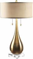 Uttermost 27048-1 Lagrima Plated Brushed Brass Side Table Lamp
