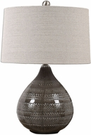 Uttermost 27057-1 Batova Plated Brushed Nickel Table Lamp