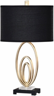 Uttermost 27063-1 Trigolo Bright Gold Leaf Lighting Table Lamp
