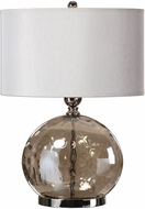 Uttermost 27066-1 Piadena Plated Polished Nickel Side Table Lamp