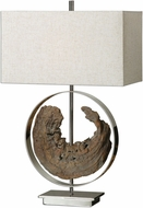 Uttermost 27072-1 Ambler Polished Nickel Table Top Lamp