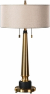 Uttermost 27077 Monroe Brushed Brass Table Lighting