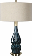 Uttermost 27081-1 Prussian Plated Brushed Brass Table Top Lamp