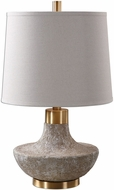 Uttermost 27083 Volongo Plated Brushed Brass Table Lamp