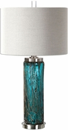 Uttermost 27087-1 Almanzora Brushed Nickel Lighting Table Lamp