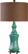 Uttermost 27144-1 Timavo Teal Ceramic Table Top Lamp
