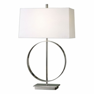 Uttermost 27153-1 Addison Modern Plated Polished Nickel Table Light