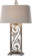 Uttermost 27209 Catania Aged White Side Table Lamp