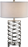 Uttermost 27224-1 Serpentine Modern Burnished Silver Table Top Lamp