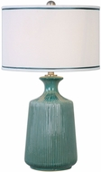 Uttermost 27226-1 Molleres Teal Ceramic Base Table Lamp