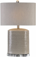 Uttermost 27231-1 Modica Taupe Ceramic Table Top Lamp