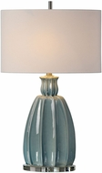 Uttermost 27251 Suzanette Sky Blue Ceramic Table Top Lamp