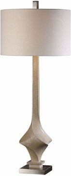 Uttermost 27302 Roseta Sand Colored Twist Buffet Table Top Lamp