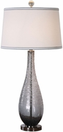Uttermost 27318 Serano Polished Nickel Plated Gray Glass Table Light