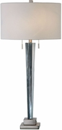 Uttermost 27322 Afina Brushed Nickel Plated Brushed Nickel Table Lamp Lighting