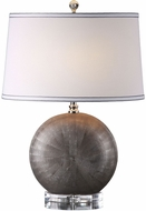 Uttermost 27323 Liadan Polished Nickel Plated Ceramic Orb Table Top Lamp