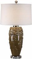 Uttermost 27325 Zacapa Polished Nickel Plated Brown Ceramic Table Lamp
