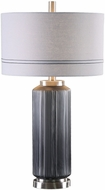 Uttermost 27334-1 Akila Brushed Nickel Plated Charcoal Glass Lighting Table Lamp