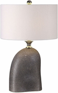Uttermost 27512-1 Mendia Heavily Textured, Dark Rust Bronze Table Lamp