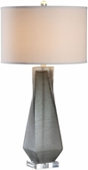 Uttermost 27523-1 Anatoli Brushed Nickel Charcoal Gray Table Lamp