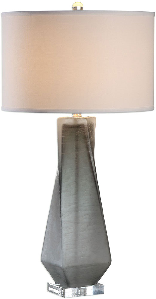 Uttermost 27523 1 Anatoli Brushed Nickel Charcoal Gray Table Lamp. Loading  Zoom