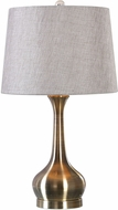 Uttermost 27533-1 Balle Antiqued Brass Table Top Lamp