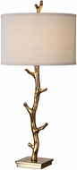 Uttermost 27546 Javor Plated Antiqued Gold Tree Branch Table Lamp