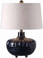 Uttermost 27552 Levane Oil Rubbed Bronze Midnight Blue Table Light