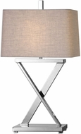 Uttermost 27554-1 Xavier Polished Nickel Table Lighting