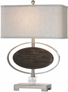 Uttermost 27558-1 Malik Brushed Nickel Plated Table Lighting