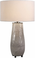 Uttermost 27564-1 Balkana Aged Gray Glaze With Black Nickel Plated Iron Table Lamp