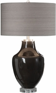 Uttermost 27568-1 Vrana Dark Gray Side Table Lamp