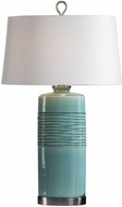 Uttermost 27569 Rila Distressed Teal Table Lamp