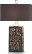 Uttermost 27578-1 Olavo Etched Dark Bronze Table Lamp Lighting