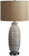 Uttermost 27582 Lokni Aged Ivory Table Top Lamp