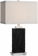 Uttermost 27712-1 Pravus Black Slate Lighting Table Lamp
