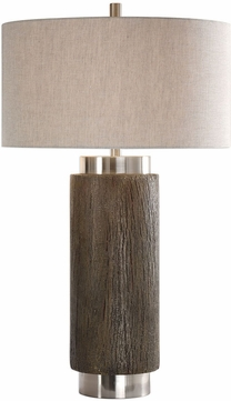 Uttermost 27721 Cheraw Wood Cylinder Table Lamp