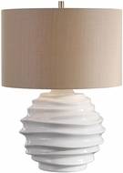 Uttermost 27722-1 Gisasa Crackled White Table Light