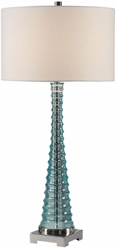 Uttermost 27732 Mecosta Sky Blue Buffet Table Lamp Lighting